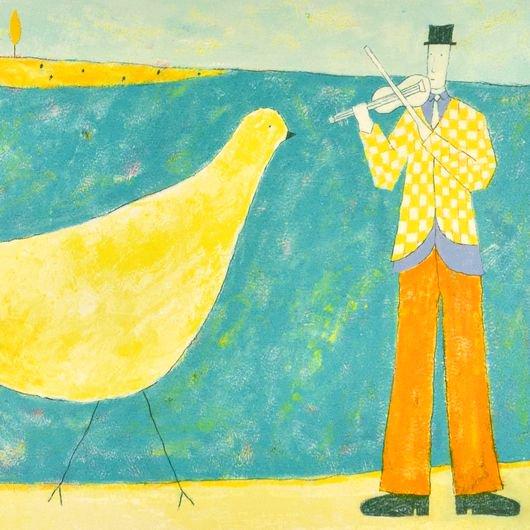 鳥とバイオリン【レンタル使用品】