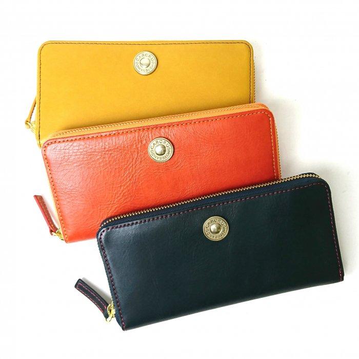 【モニカ】カルクルらしい色使いがキュートな定番の財布 ラウンドファスナー長財布