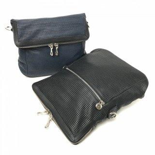 【パンチング】パンチング効果でレザーバッグなのに軽い!<BR>2WAYショルダーバッグ