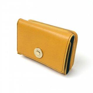 【モニカ】発色のいいカラーのレザーを使った人気の三つ折り財布<br> 三つ折り財布
