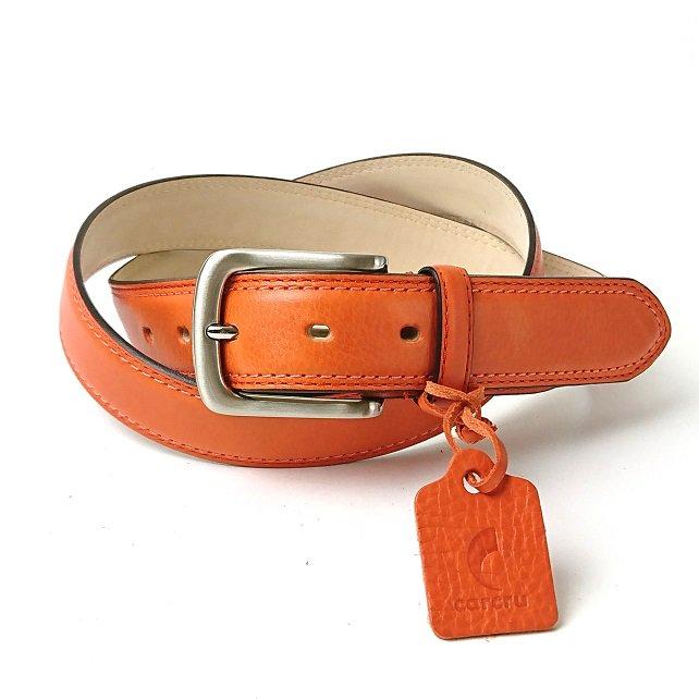 【アウトレット】革の王道・イタリアンレザーを使ったハイグレードベルト  イタリアンレザー33mm幅ベルト