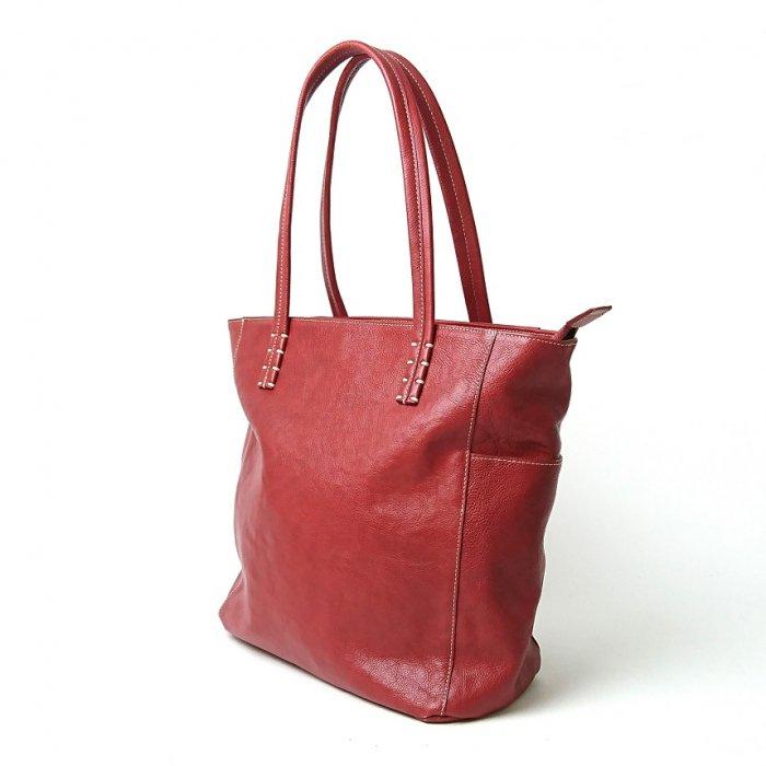【アウトレット】色も形も可愛くて、持っているだけでウキウキしてくるレザートートバッグ  トートバッグ(大)