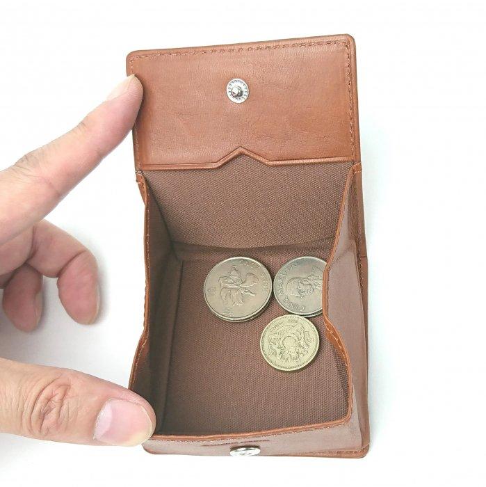 【ピケット】革の王道/ベジタブルレザーを使った小銭が取り出しやすい小銭入れ BOX小銭入れ