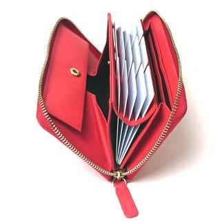 【ポップアップ(実用新案商品)】カードが飛び出す!見やすく取り出しやすい。カードが主役の次世代財布。カルクルの実用新案商品です。<br>ラウンドファスナー長財布