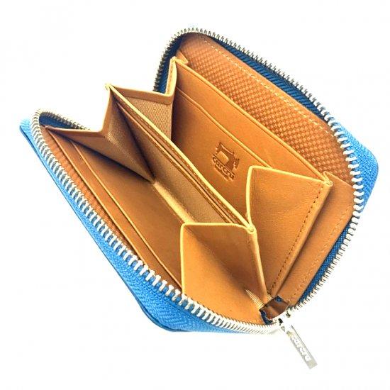 【アリゾナ】イタリアンベジタブルレザーを使った本格化札入れ コンパクトラウンドファスナー札入れ