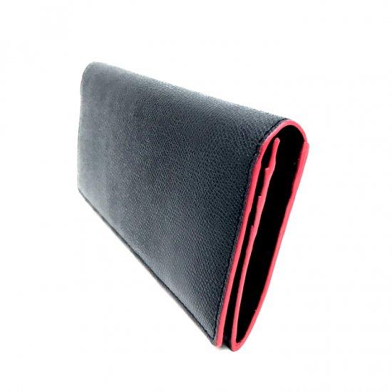 【コバカラー】コバに塗られたさりげないカラーリングがポイント!<br>カブセ長財布