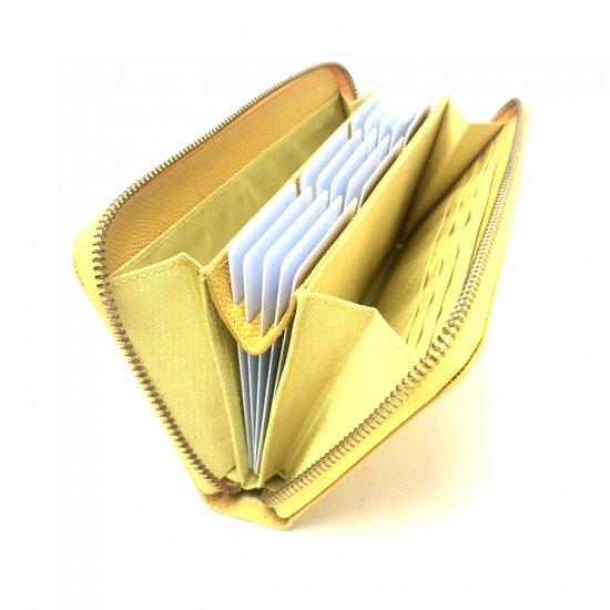 【ポップアップ(実用新案商品)】カードが主役!カード時代の新定番<br>ラウンドファスナー長財布