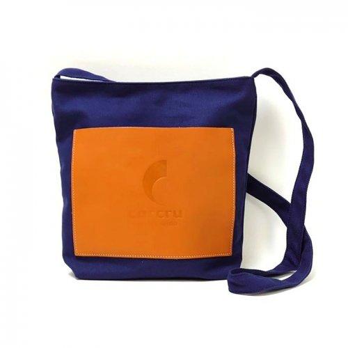 【アウトレット/帆布】カラーバリエーション豊富なボディに、牛革をあしらった帆布バッグ ショルダーバッグ(小)