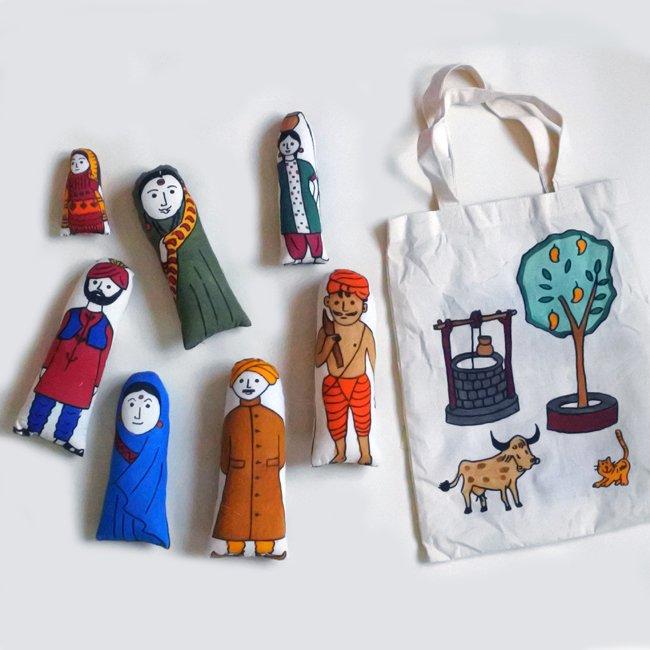 インドの大家族 人形セット