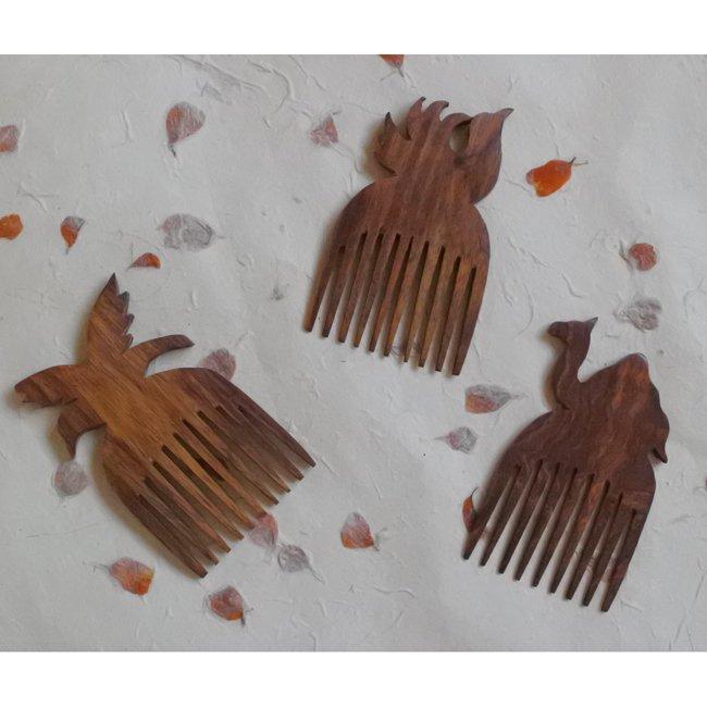 シーシャムウッド ハンドメイドの木櫛 Sサイズ