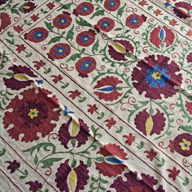 スザニ アフガニスタンの刺繍布 新品 No.1