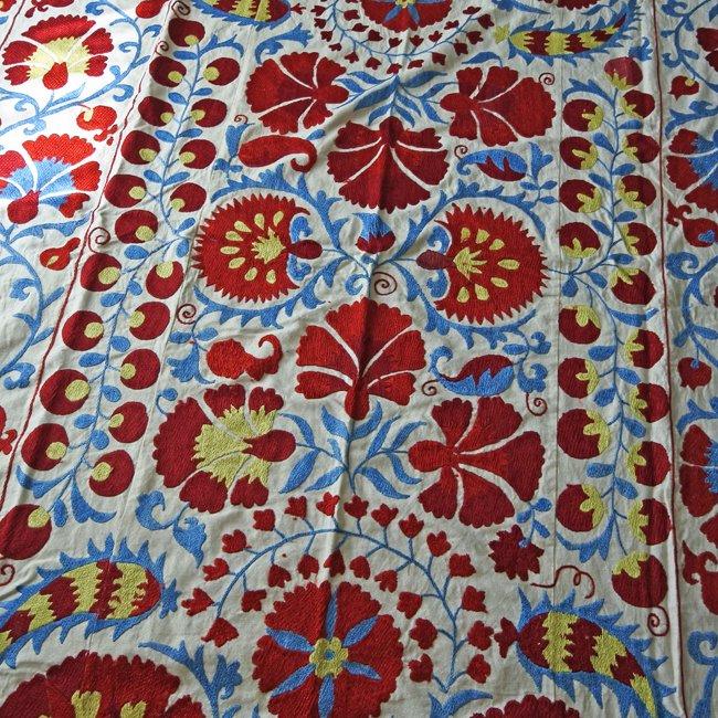スザニ アフガニスタンの刺繍布 新品 No.3