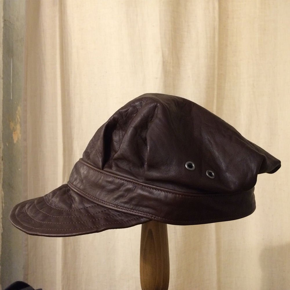 HORSE HIDE ARMY CAP