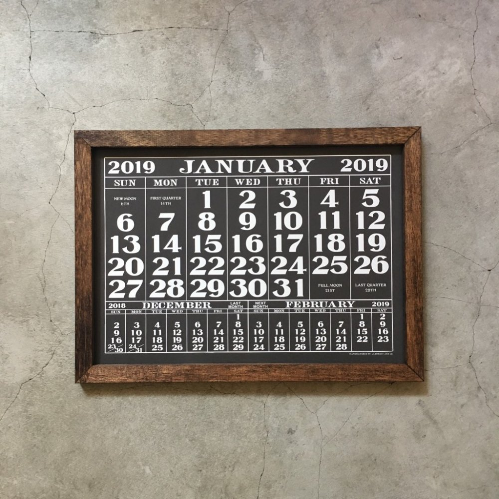 LABOR DAY 2018 CALENDAR & ORIGINAL WOOD FLAME SET