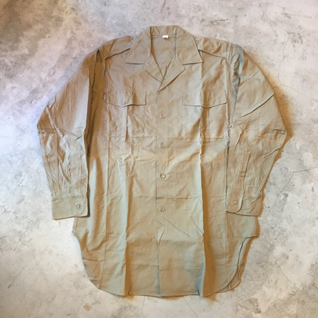 N.O.S. 1950's FRENCH MILITARY KHAKI SHIRTS