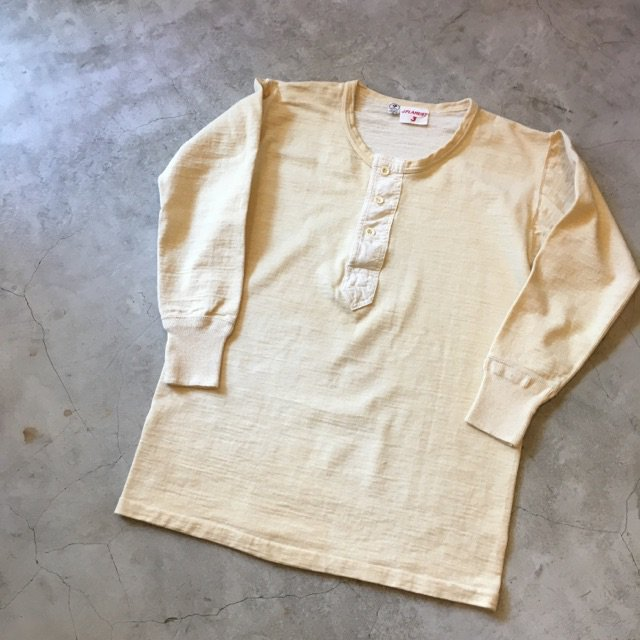 N.O.S. 1960's French Army Long sleeve Henry Tee