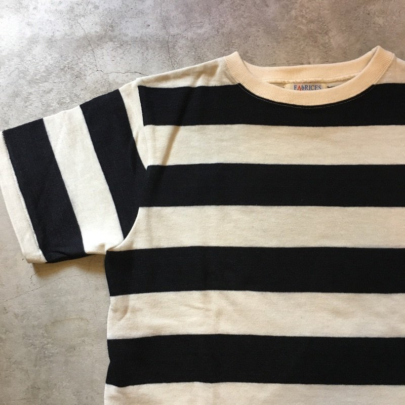 FAbRICES      STANDARD  O.WHITE × BLACK  BORDER Tee