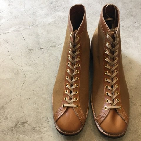 "CLINCH Boots & Shoes "" MAST TRAINER"" made for Arcadia Kyoto      BROWN"