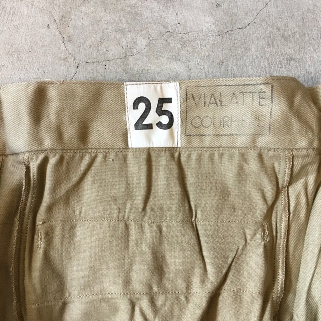 N.O.S. 1960's FRENCH ARMY CHINO SIZE25