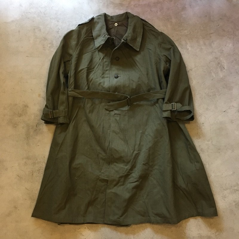 N.O.S.  1940's FRENCH MILITARY    MOTORCYCLE COAT
