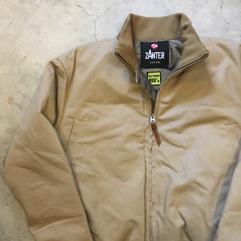 "ZANTER     Agency Limited Model    ""TANKERS DOWN JACKET"""