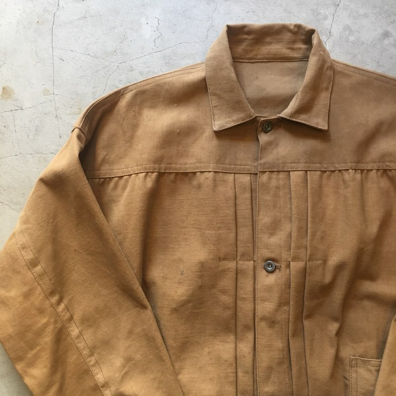 "SIGNAL ORGINAL    ""1910's SPECIAL FABRIC""    EARLY STYLE JACKET    BROWN DUCK"