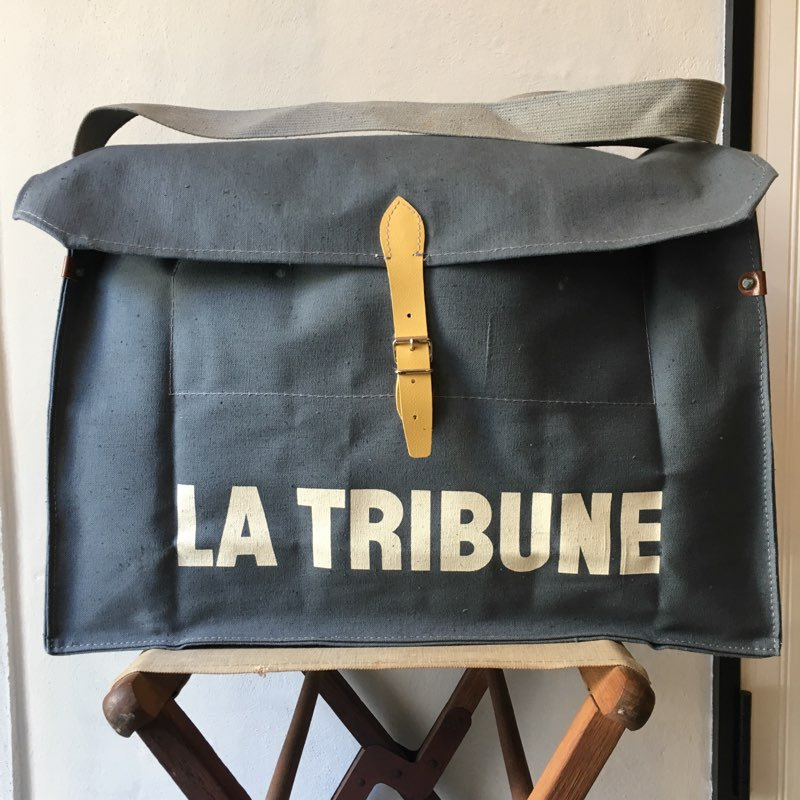 "N.O.S. 1980's    ""La Tribune""    French Newspaper Bag"