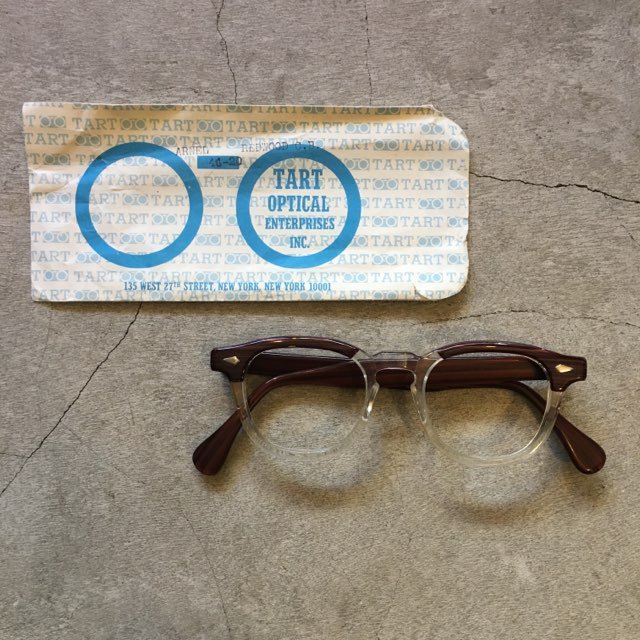 "N.O.S.  1950's-70's    TART OPTICAL    ""ARNEL""    Redwood 46-20"