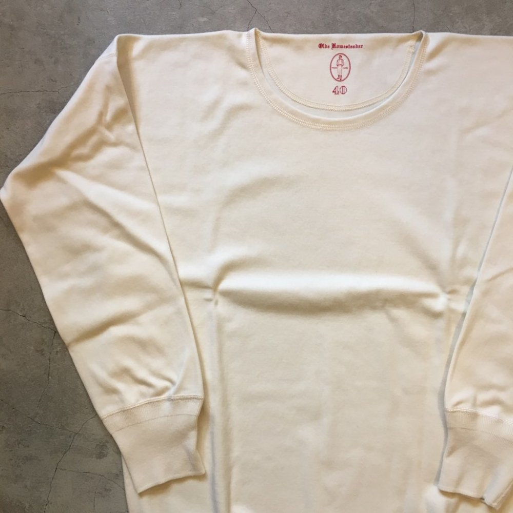 "OLDE HOMESTEADER    ""CREW NECK LONG SLEEVE""    IVORY"