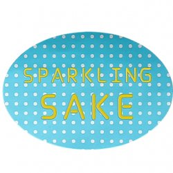 SPARKLING SAKEシール 【青ドット】【1,000枚】