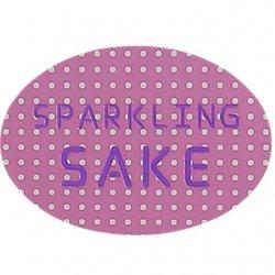SPARKLING SAKEシール【紫ドット】【1,000枚】