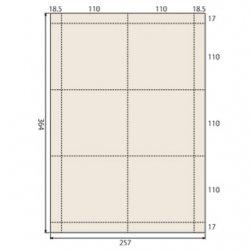ミシン入りラベル用紙B4 110×110mm