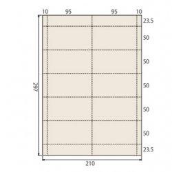 ミシン入りラベル用紙A4 95×50mm【500枚】