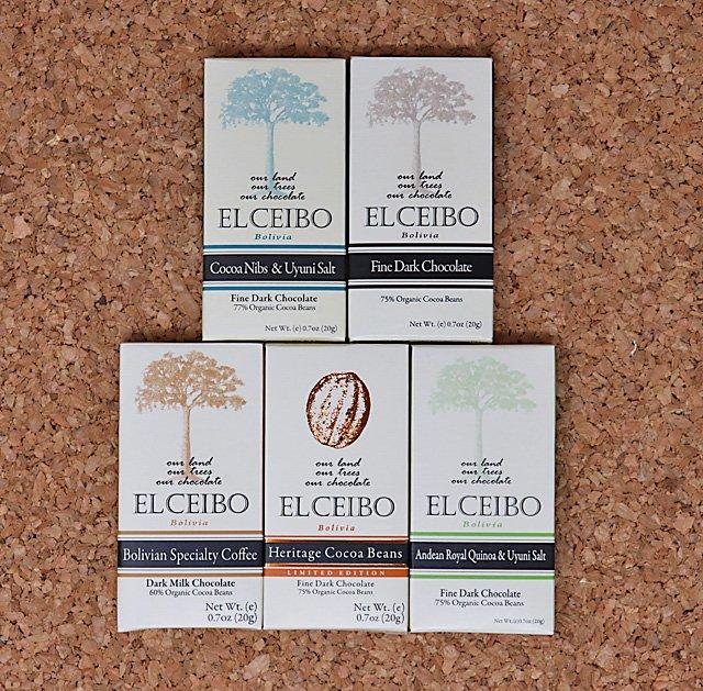 EL CEIBO Bolivia チョコレートセット (20g/80g) 5枚
