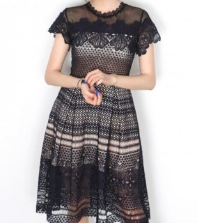 3月入荷予定☆Lace navy dress