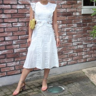 即納☆Frill lace dress