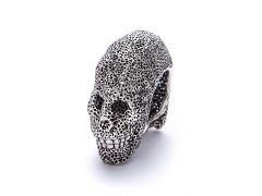<img class='new_mark_img1' src='//img.shop-pro.jp/img/new/icons8.gif' style='border:none;display:inline;margin:0px;padding:0px;width:auto;' />Pyro mesh work  Skull Ring