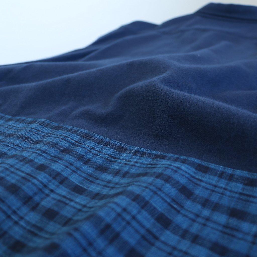 松阪木綿のポケットシャツ #navy