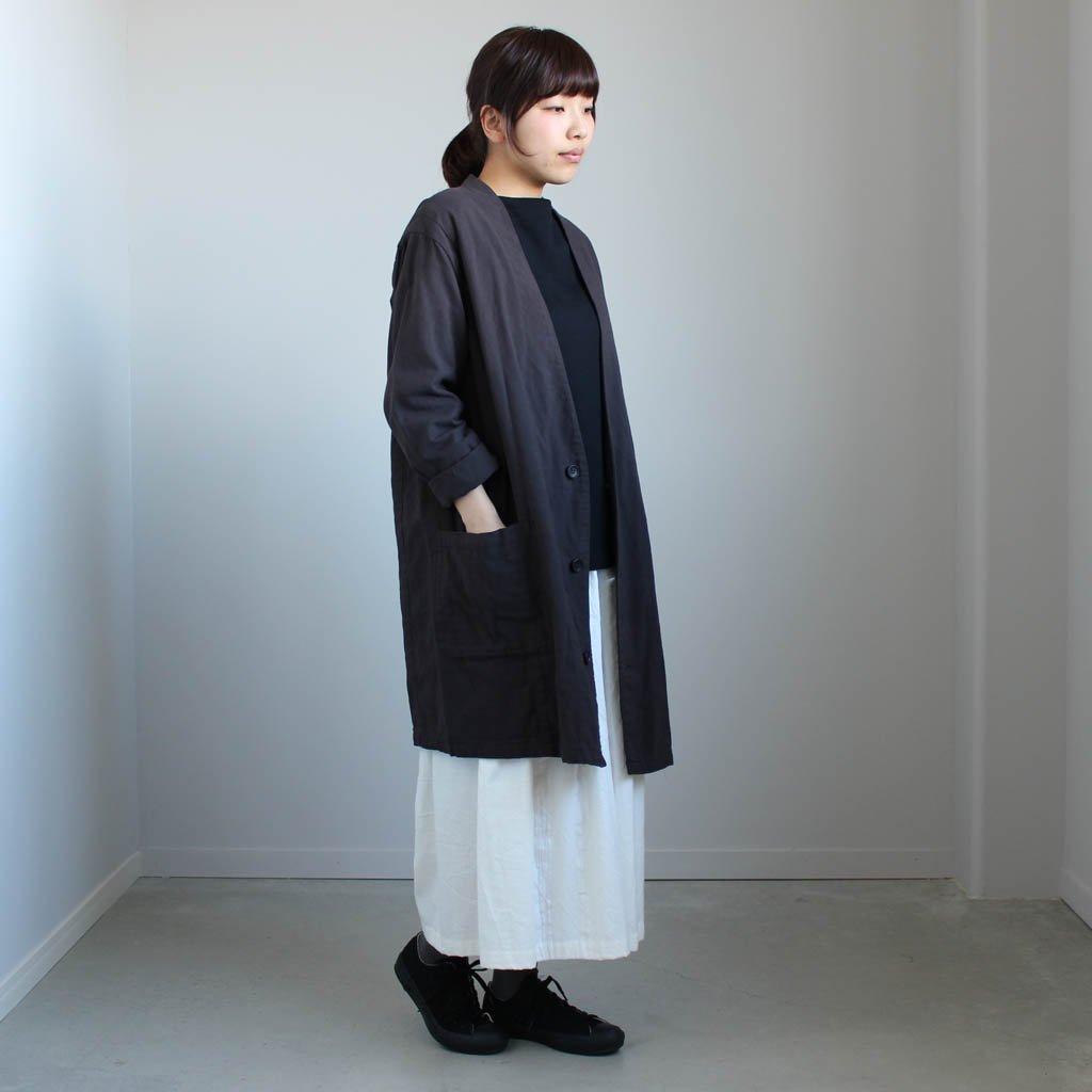 伊勢木綿のコート #c.gray
