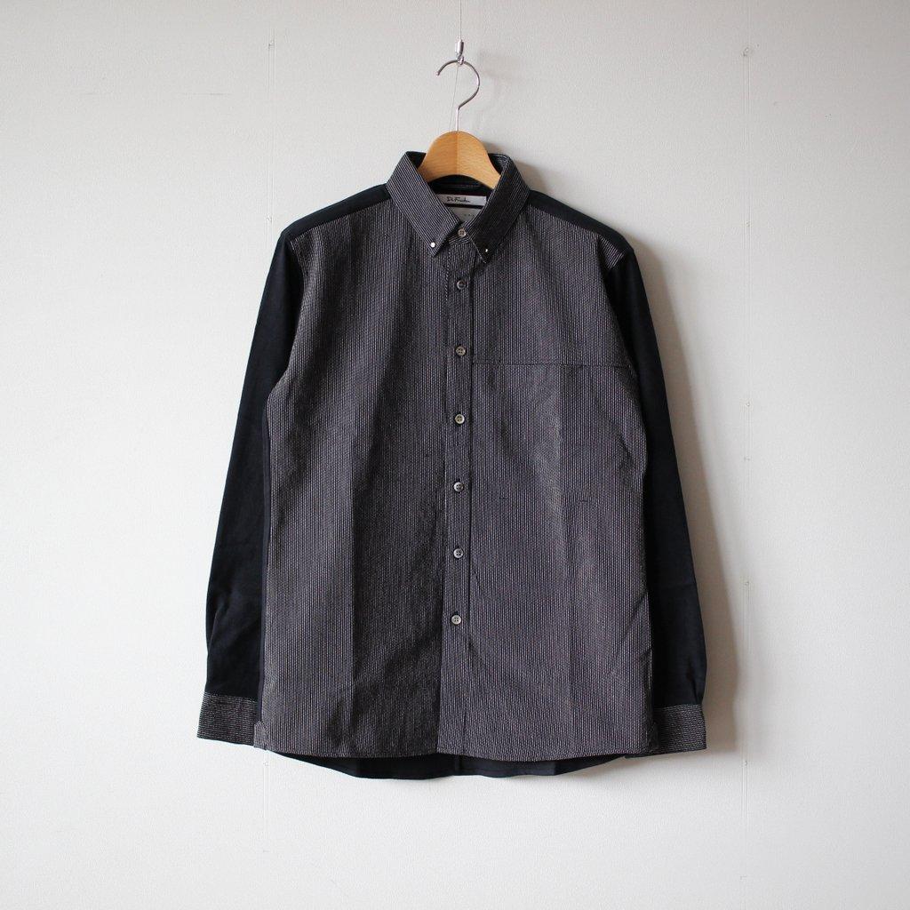 伊勢木綿のDr.Shirt #blackstripe