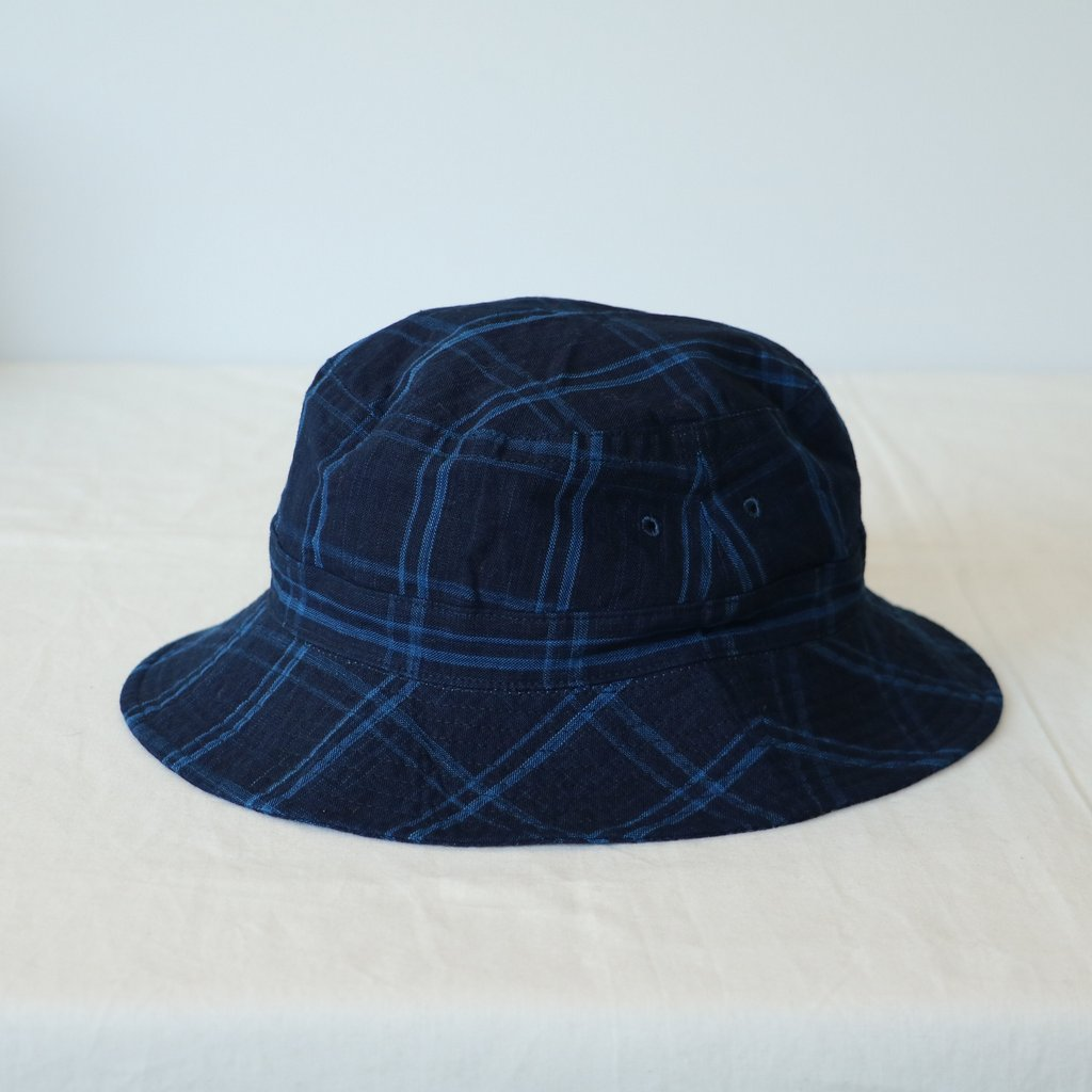 松阪木綿のBUCKET HAT #big check