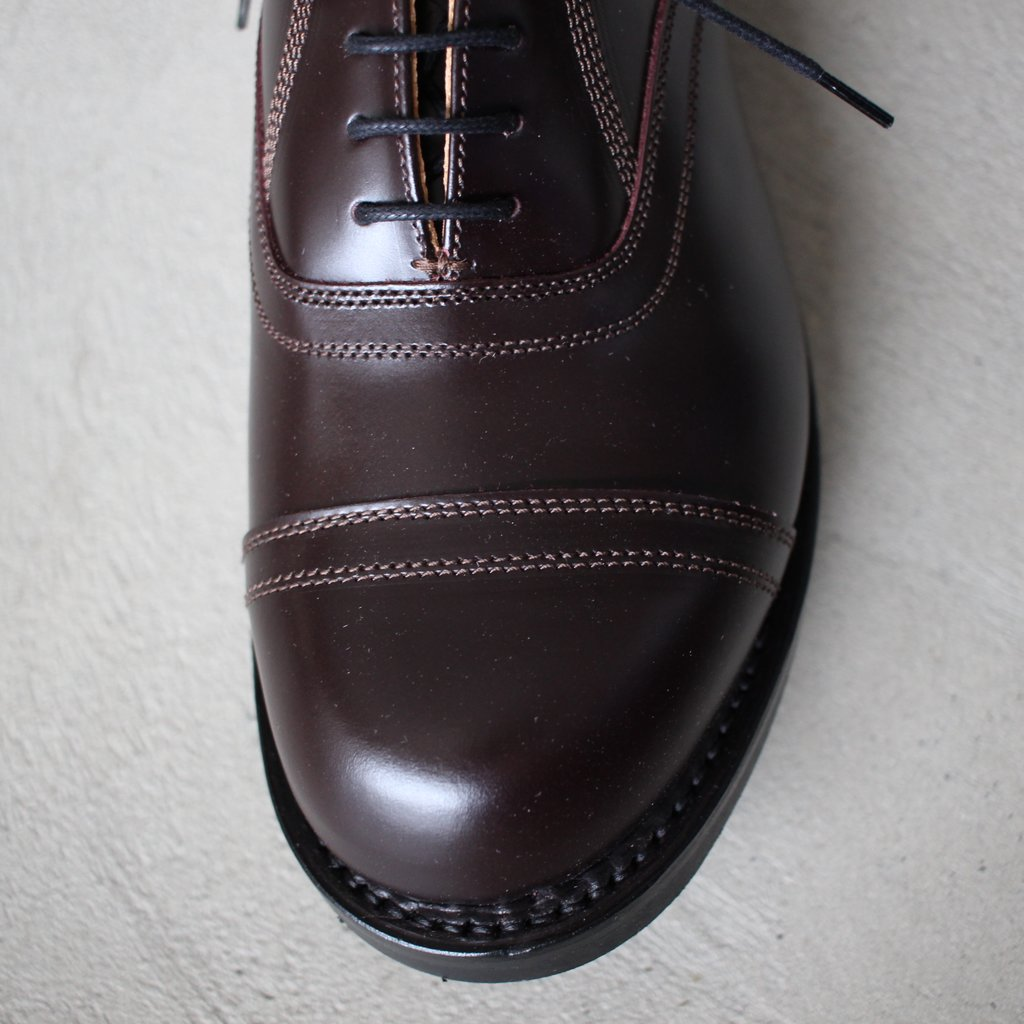 Select - Shoes | 靴 CORDVAN 5 EYE OXFORD SHOE #brown