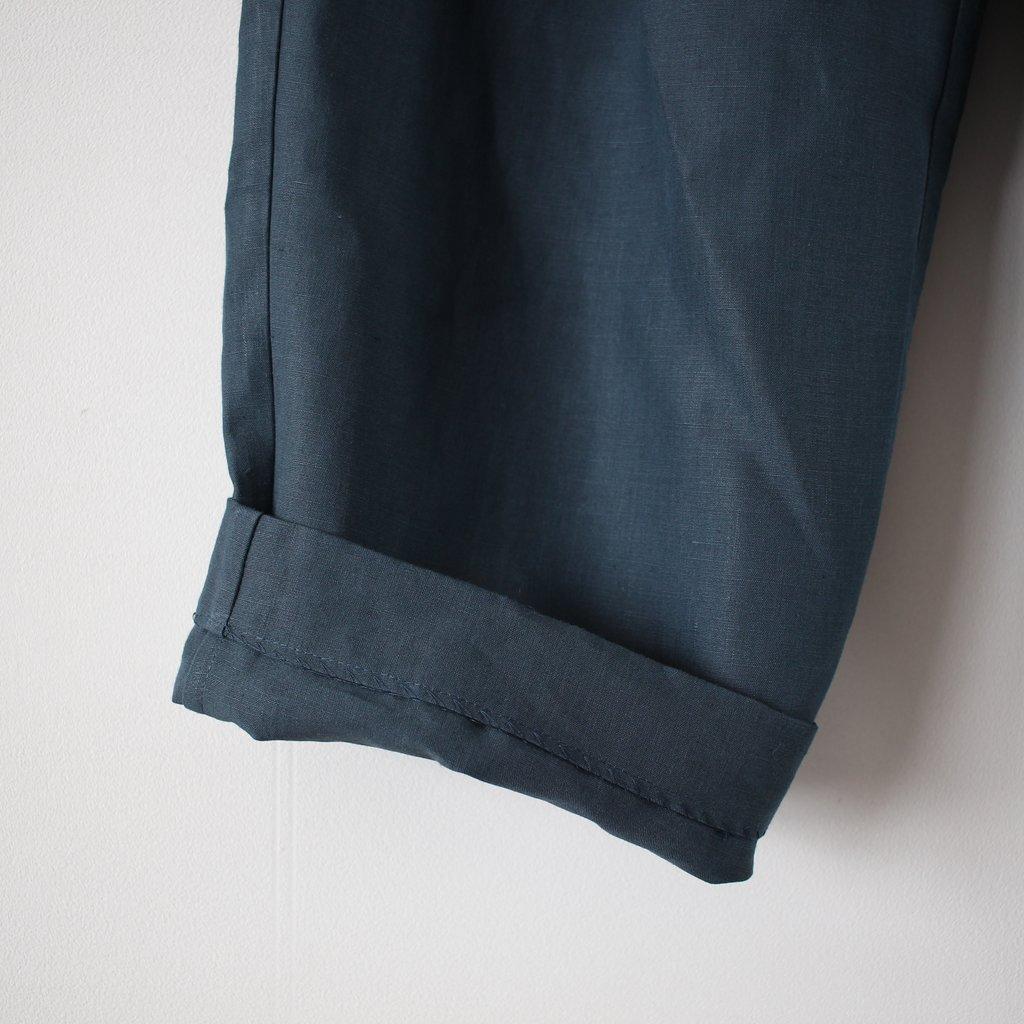 R&D.M.Co- OLDMAN'S TAILOR | オールドマンズテーラー 高密度LINEN WIDE TAPERED GOM PANTS #green