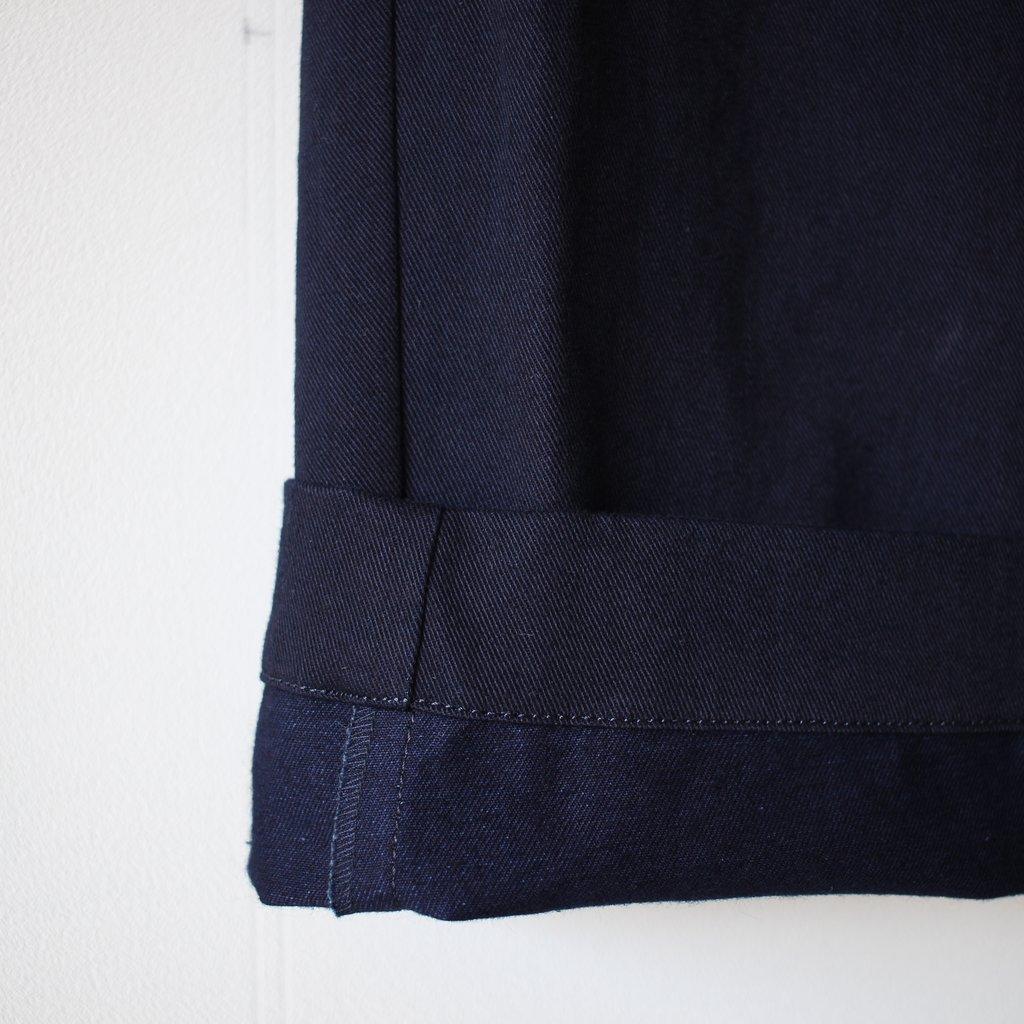 BLUE BLUE JAPAN | ブルーブルージャパン インディゴ41カーキ ワンタックパンツ #indigo