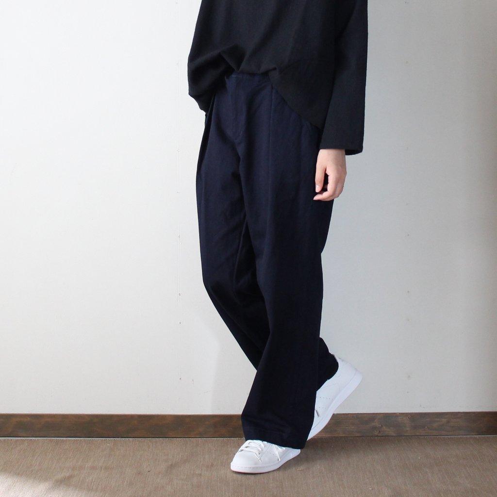 BLUE BLUE JAPAN | ブルーブルージャパン インディゴ41カーキ ワンタックワークパンツ #indigo