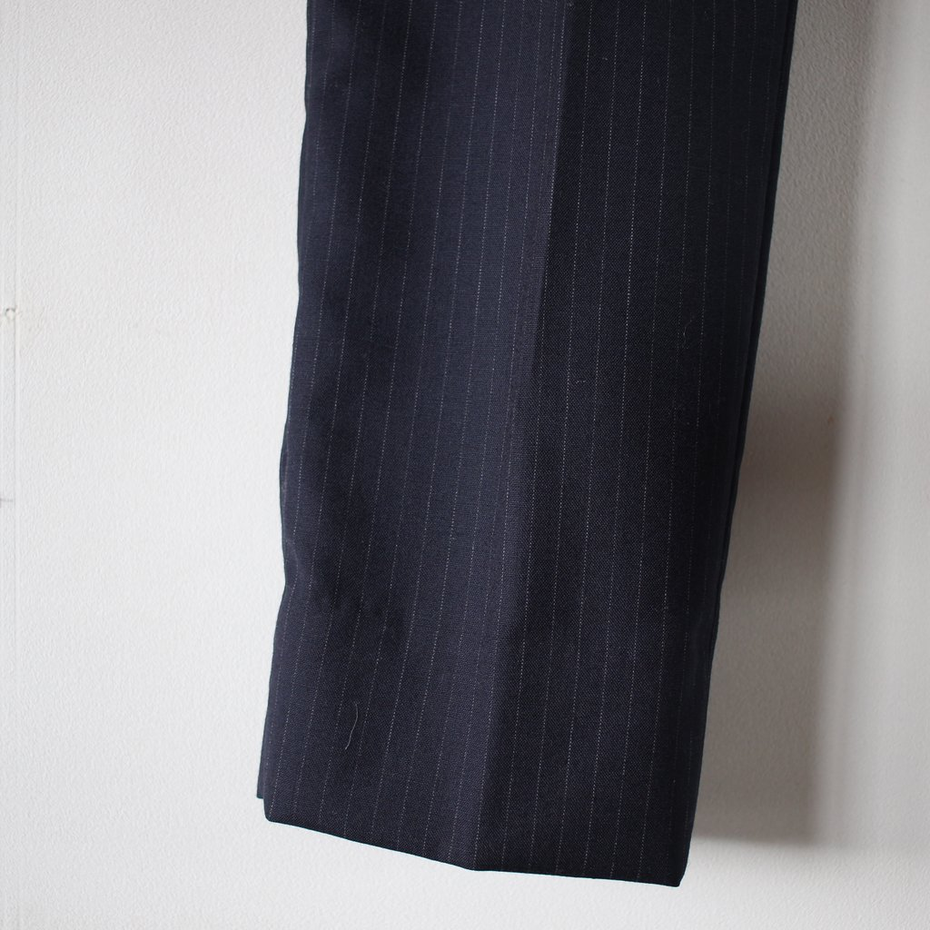 uryya | ユライヤ Pinstripe tapered pants #stripe navy
