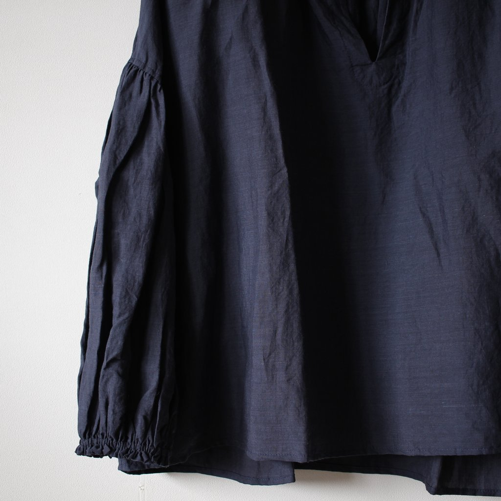 an one | アンワン ギャザープルオーバー #charcoal navy