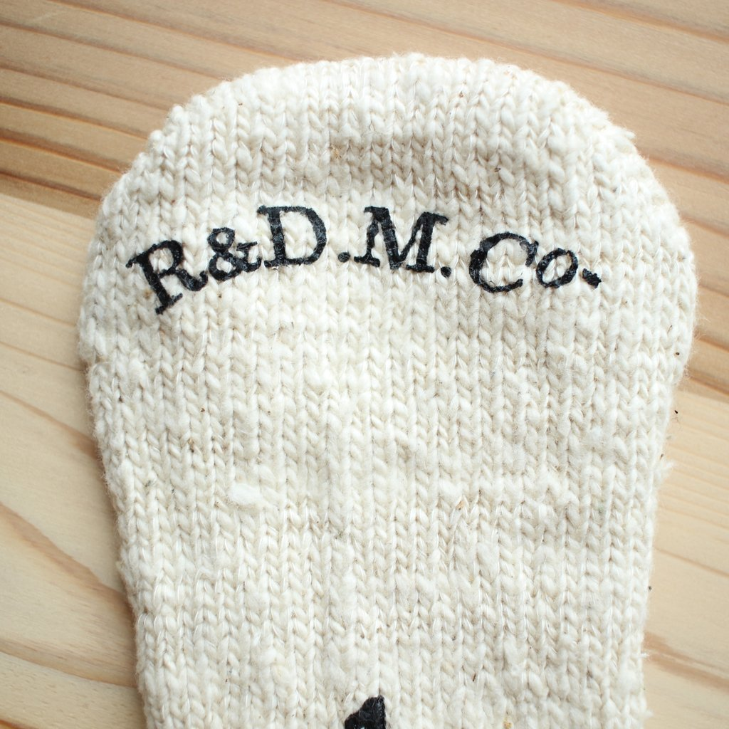 R&D.M.Co- OLDMAN'S TAILOR | オールドマンズテーラー ガラ紡 ORGANIC SOCKS #natural