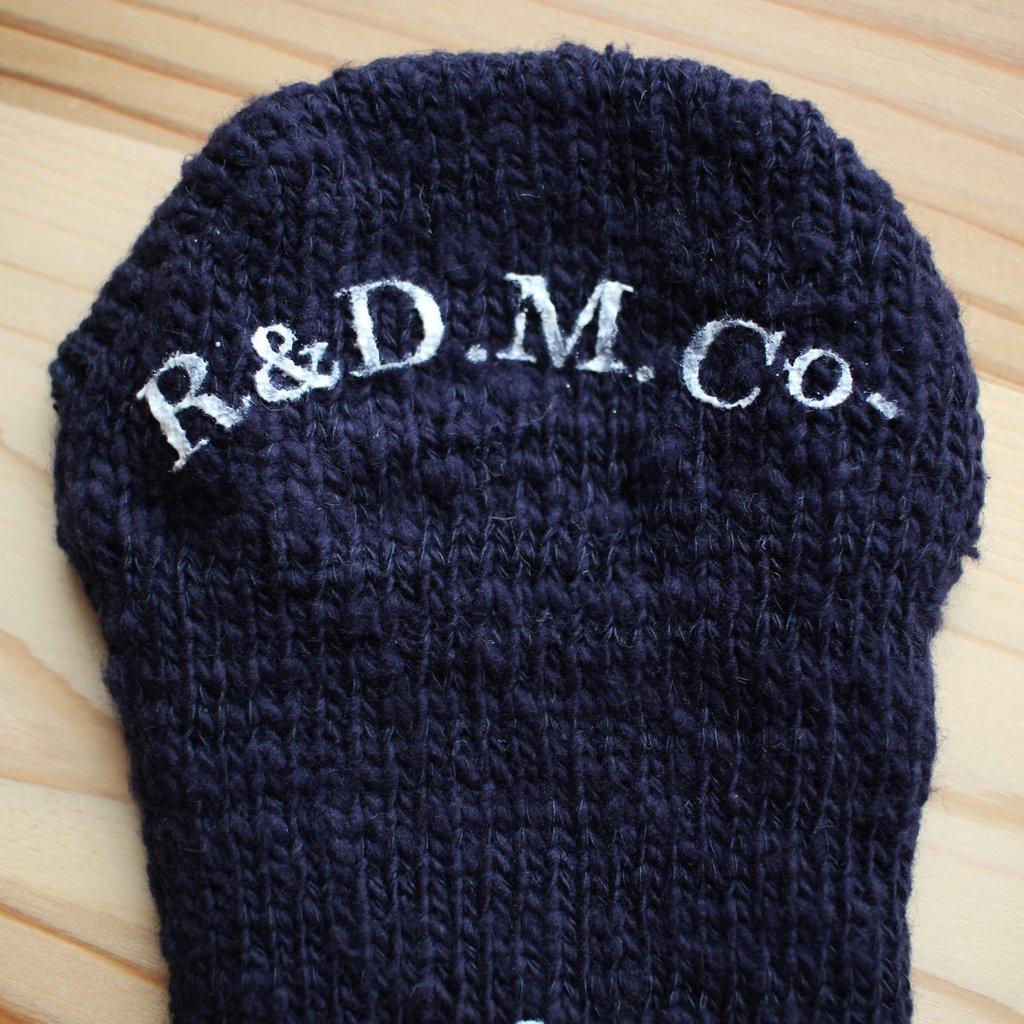 R&D.M.Co- OLDMAN'S TAILOR | オールドマンズテーラー ガラ紡 SOCKS #navy