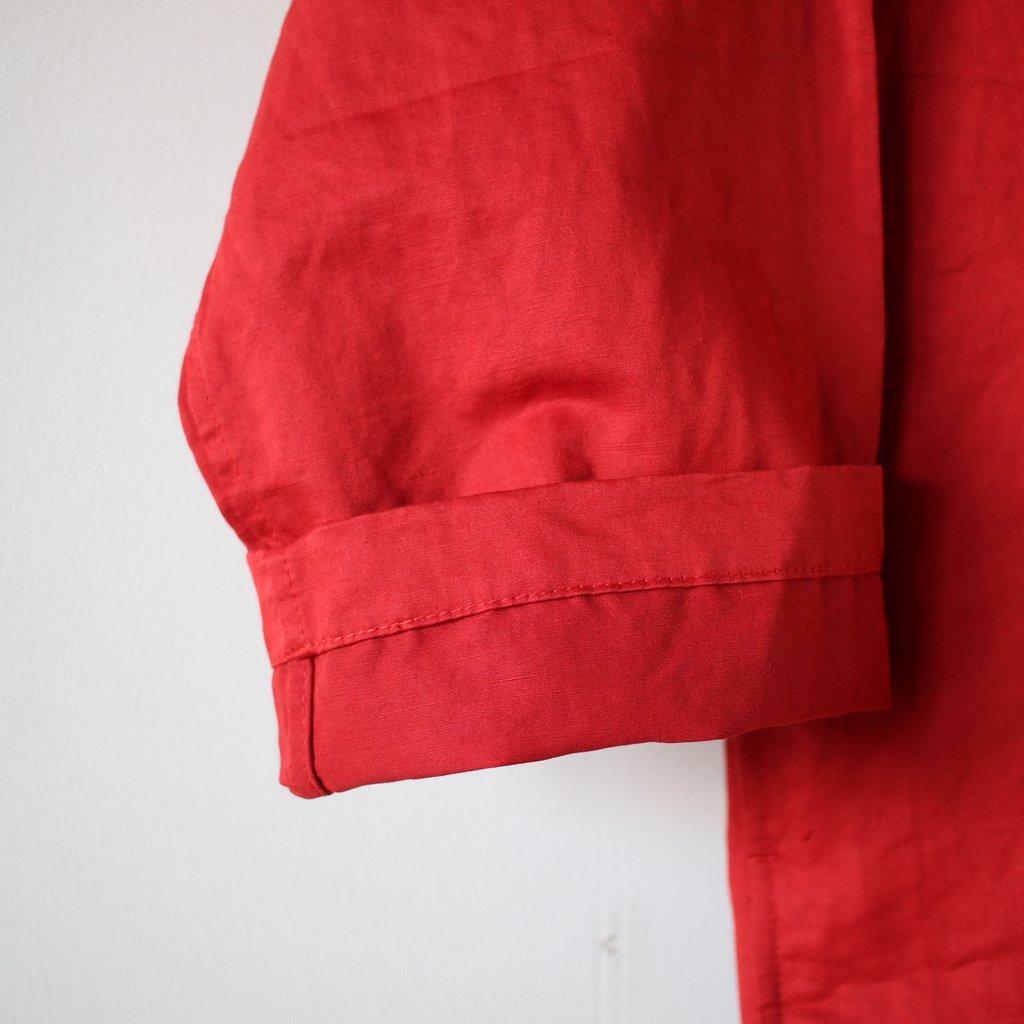 an one   アンワン ドクターコート ショート #red